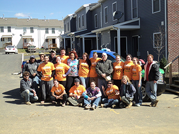 Students and Staff Advisors Volunteer with Habitat for Humanity for 