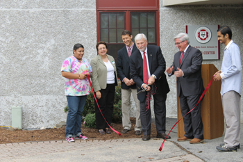 Franklin Pierce University celebrates the opening of the remodeled Lloyd and Helen Ament Astmann '69 Career Center