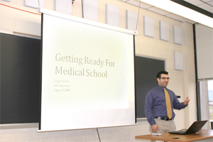 FPU Alum Shares Med School Tips at Medical Club